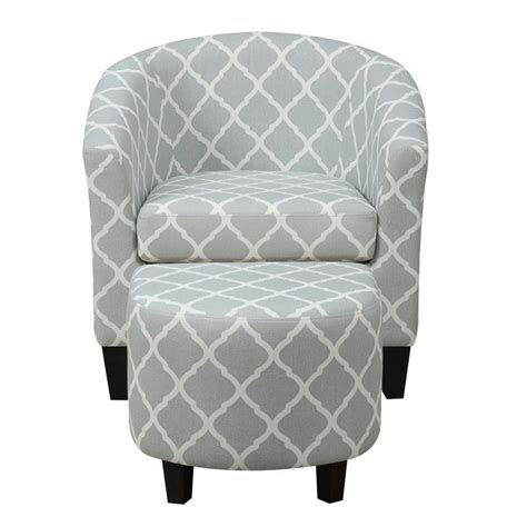 fabric chair with ottoman pri fabric accent chair with ottoman in light blue ds