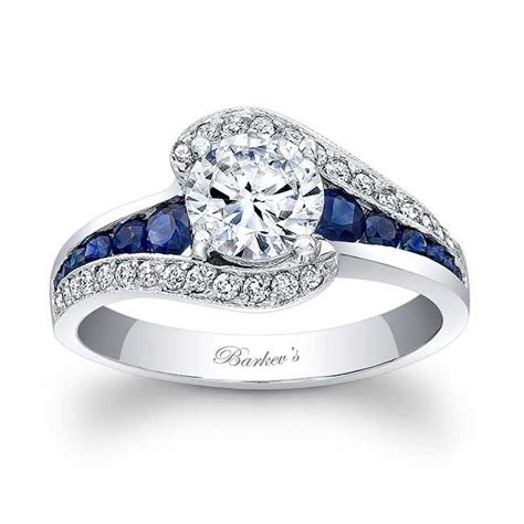 blue engagement rings barkev s blue sapphire engagement ring 7898lbs