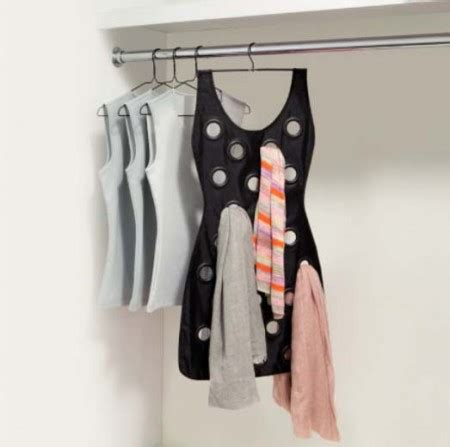 jual black dress hanging scarf organizer rak