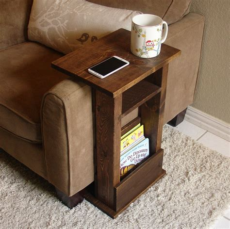 Armchair Table by Sofa Chair Arm Rest Table Stand Ii With Shelf And Storage