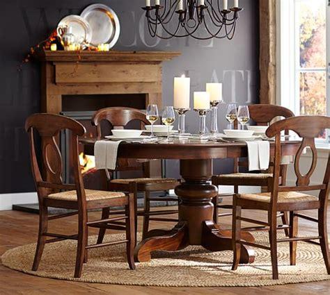 pottery barn dining room sets tivoli extending pedestal table napoleon chair 5 piece