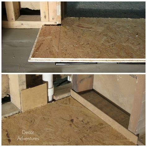 working with dricore subfloor in a basement 187 decor adventures