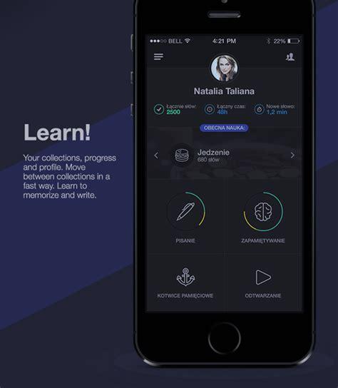 app design learn mobile app design inspiration learning vocabulary