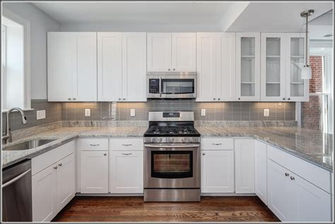 white glass subway tile backsplash white subway tile backsplash with white cabinets
