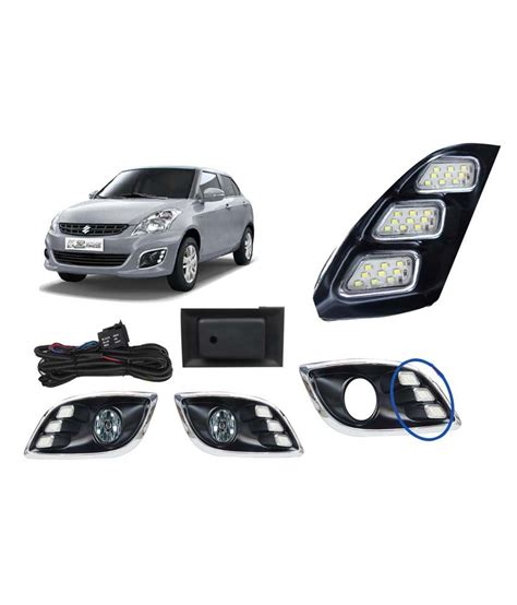 Lu Led Drl Mobil auto pearl led daytime running light drl for maruti suzuki dzire new model with switch