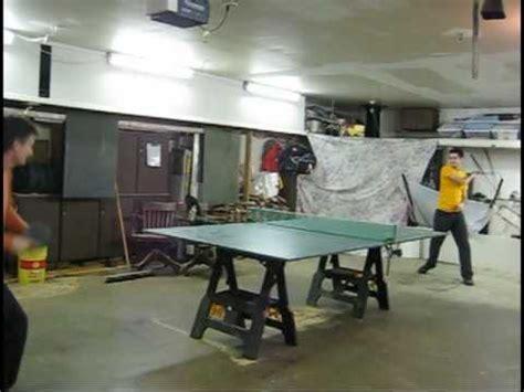 ping pong table in garage garage ping pong