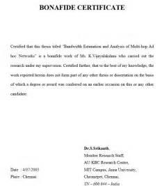 10 free sample bonafide certificate templates printable