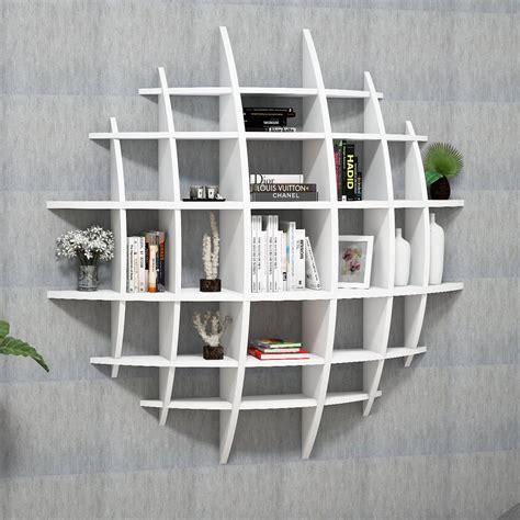 libreria da parete design sferik libreria rotonda design da parete 140 x 140 cm