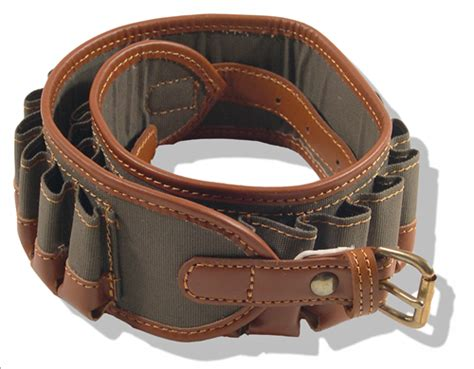 jeff s outfitters canvas leather shotshell belt