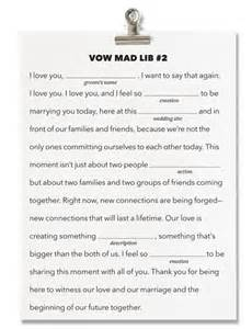 wedding vow template brides fill in the blank wedding vows write your own