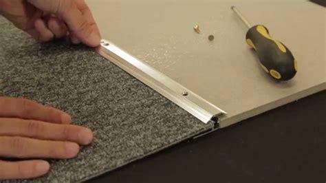 how to trim a rug carpet to tile trim
