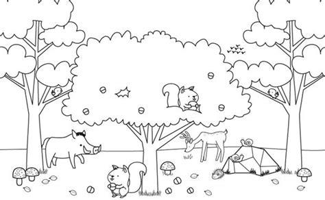 imagenes de paisajes para colorear e imprimir paisaje de oto 241 o con animalitos dibujo para colorear e