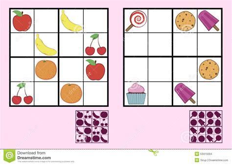 sudoku gitter leer puzzlespiel das sudoku der kinder mit bonbonn 252 ssen und
