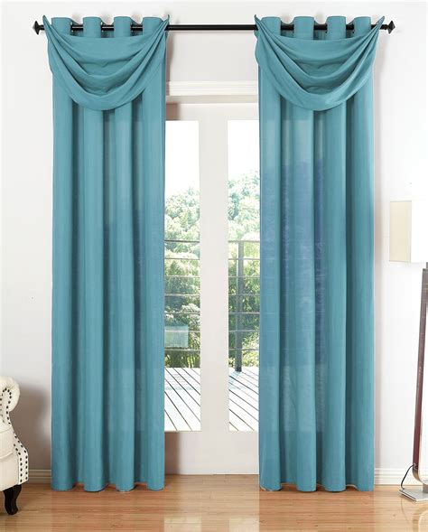 gardinen querbehang mit osen vorhang set 6 teilig blickdicht schal gardine 214 sen