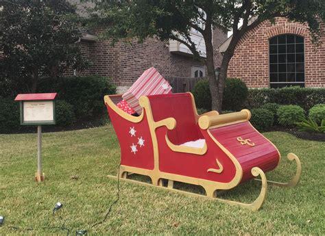 santa wood yard art santa sleigh size wooden sleigh yard santasleigh wood projects
