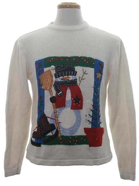 White Color Paint Sweater sweater in resource unisex white background cotton ramie blend pullover