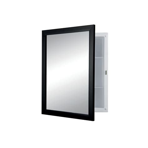 shop broan hudson 20 in h x 16 in w black plastic recessed