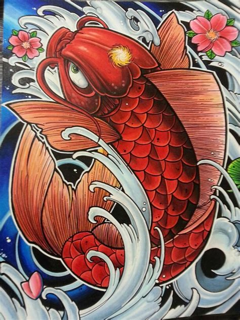 koi fish drawing color koi fish drawing i did in prismacolor color pencils my