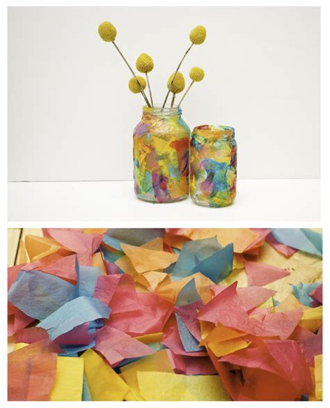Things To Make With Tissue Paper - no monsters in my bed things to make tissue paper vases