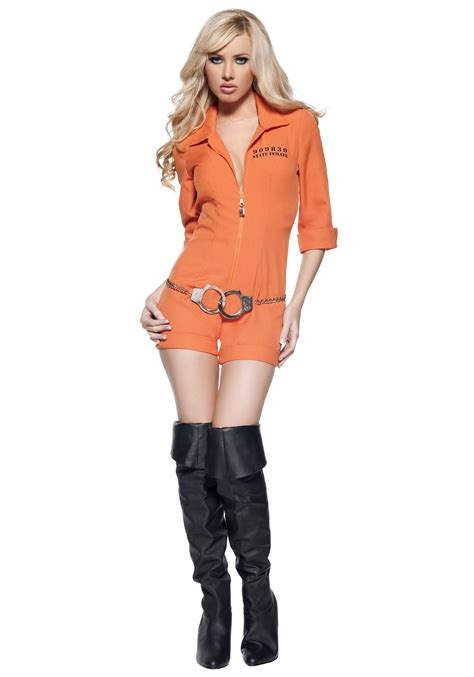 Clever Pumpkin by Womens Inmate Costume Prisoner Halloween Costumes