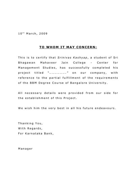 Certificate Letter For Project Project Completion Letter Format Best Template Collection