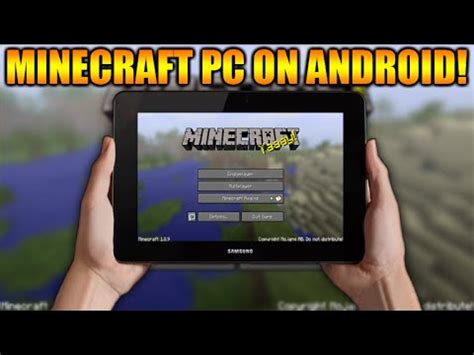 how to play on android tablet how to play minecraft pc on any android tablet or phone tutorial link