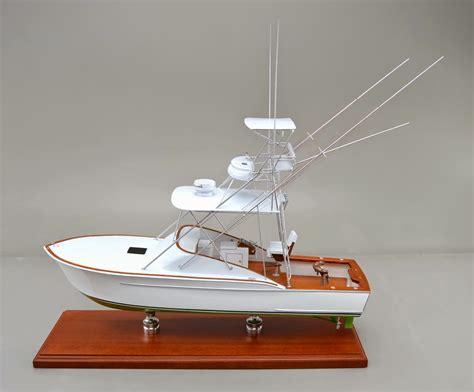 sport fishing boat scale model 24 inch desktop replica of a 31 foot sport fishing boat