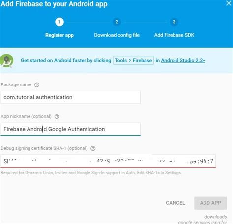 firebase tutorial json android firebase authentication with google signin