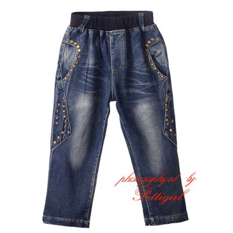 Denim For Sale by Cutestyle 2016 Boy Denim Jean Rivet Patchwork Children