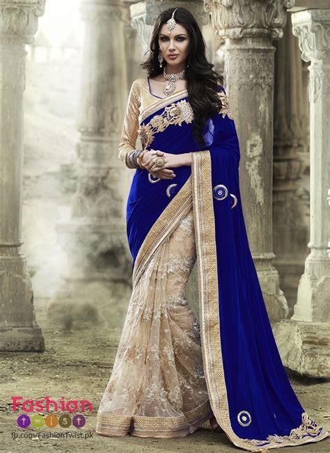 Wedding Dresses Designer Blue by Indian Design Bridal Sarees In Blue