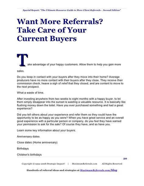 Insurance Letter To Prospective Client Referral Marketing Guide