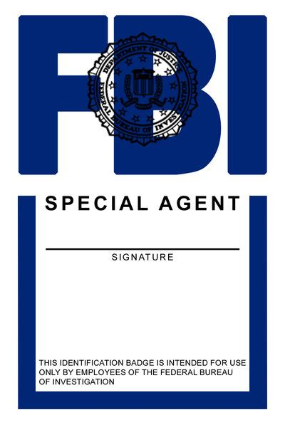 fbi id card template 7 best images of id badges templates printable printable
