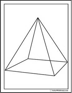 color pyramid shape coloring pages customize and print