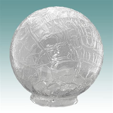 crackle glass l globe 8479 clear crackle glass globe 3 1 4 quot x 6 quot glass