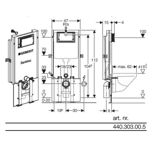 Inbouwtoilet Afmetingen Grohe by Geberit Sanbloc Inbouwreservoir Up320 Met Frontbediening