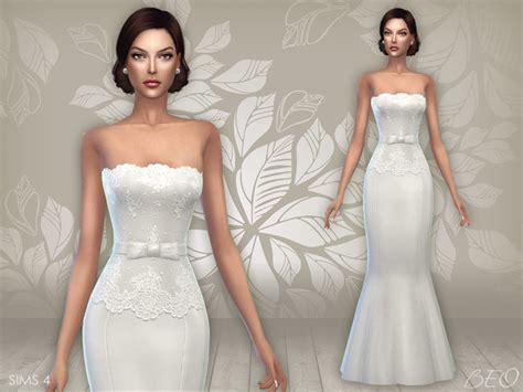 Dress Cc cc finds wedding dress 03 by beo ts4 clothing