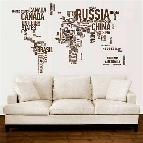 Words Wall Stickers a different world wall stickers