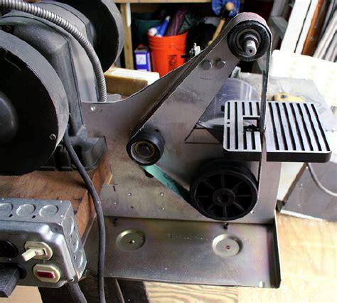 bench grinder belt sander conversion new belt grinding attachment for bench grinders page 3