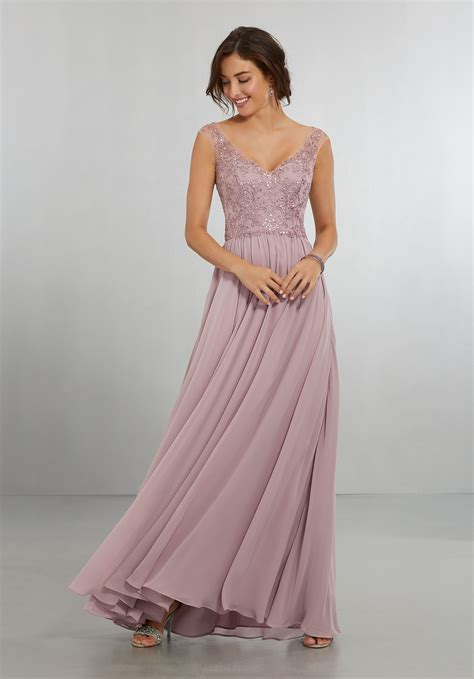 And Bridesmaid Dresses by Chiffon Bridesmaids Dress With Intricately Embroidered And