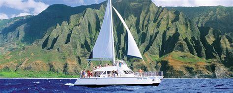 catamaran boat tours kauai kauai sea tours na pali coast snorkel tours