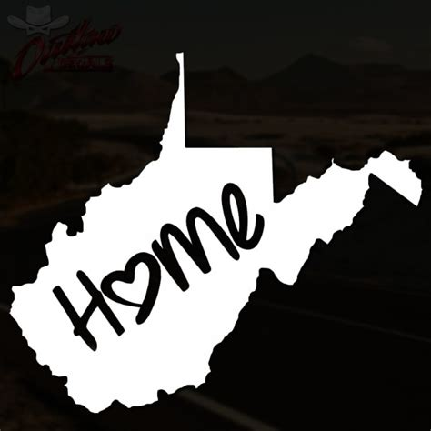 west virginia home decal outlaw decals