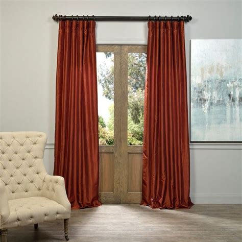 burnt orange silk curtains 17 best ideas about burnt orange curtains on pinterest