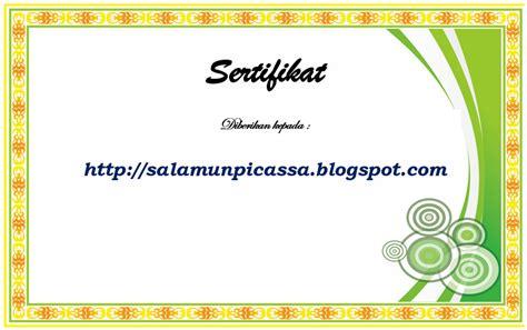 template sertifikat word fathonan kumpulan bingkai dan sertifikat format word