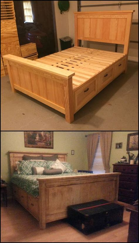 farmhouse bed  drawers httpdiyprojectsideaslive