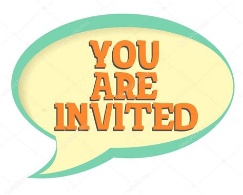 You Are you are invited vector sticker volume frame with shadow