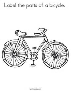 bike coloring pages label the parts of a bicycle coloring page twisty noodle