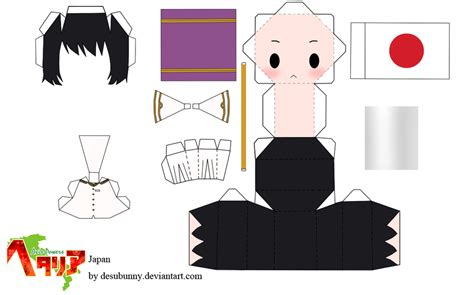 Paper Craft Japan - hetalia japan papercraft by tsunyandere on deviantart