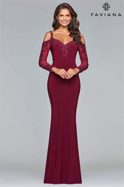 wine colored dresses glam gowns