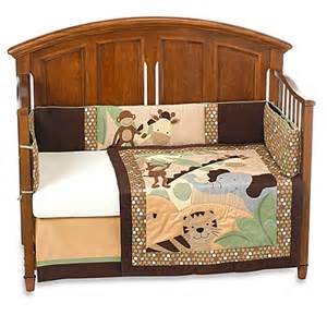 lambs 174 jungle land 4 crib bedding set 100