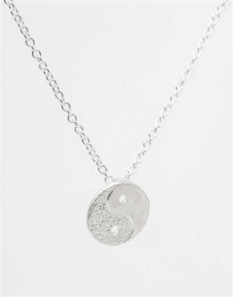 Kaos Juragan Gold Silver Mengkilat Bling Bling lyst dogeared sterling silver yin and yang balance necklace in metallic